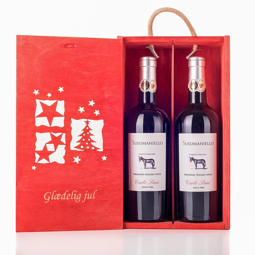 Julevingave i træ med Susumaniello IGT