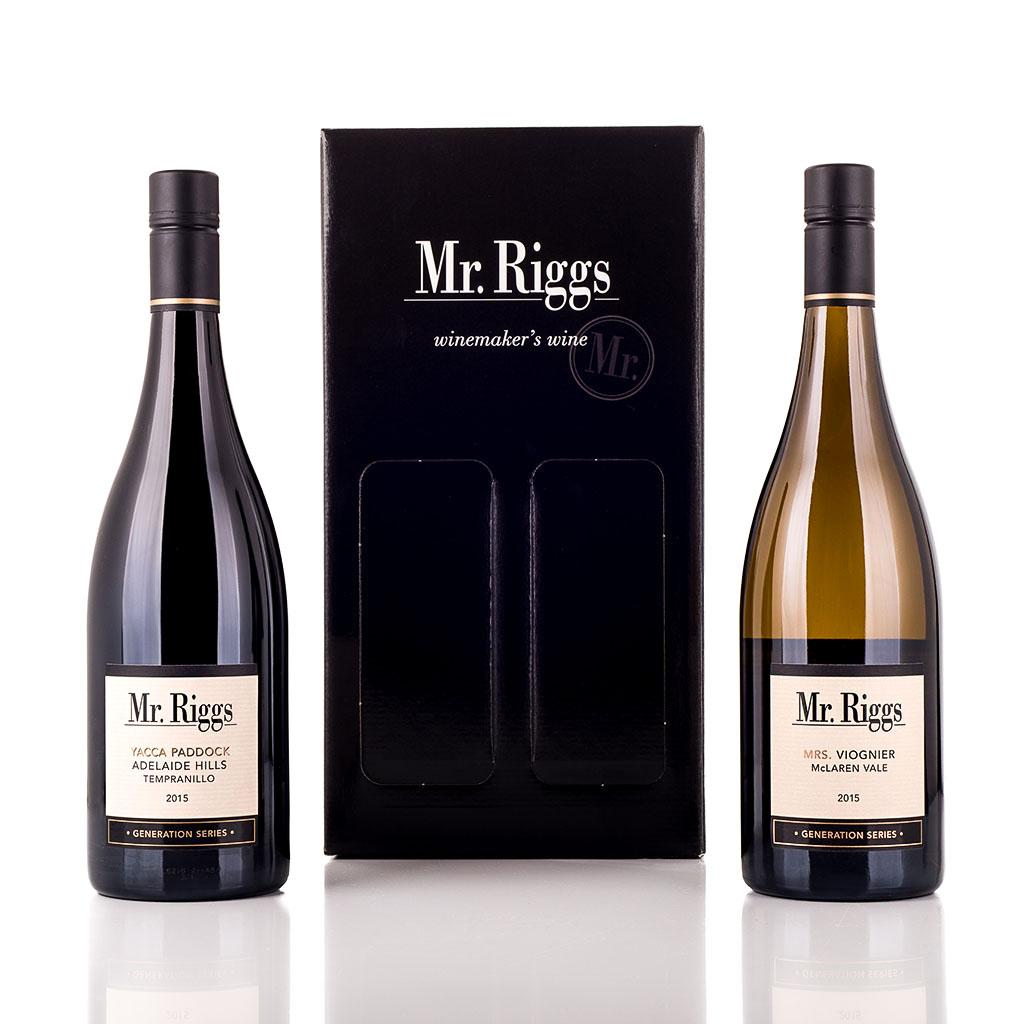 Vingave i gaveæske med 2 flasker Mr Riggs