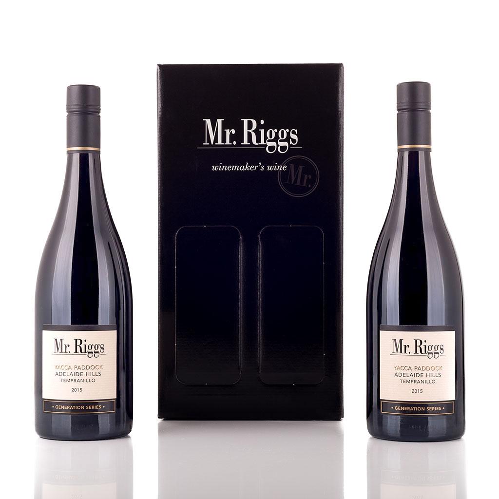 Vingave i gaveæske med 2 flasker Mr Riggs Tempranillo