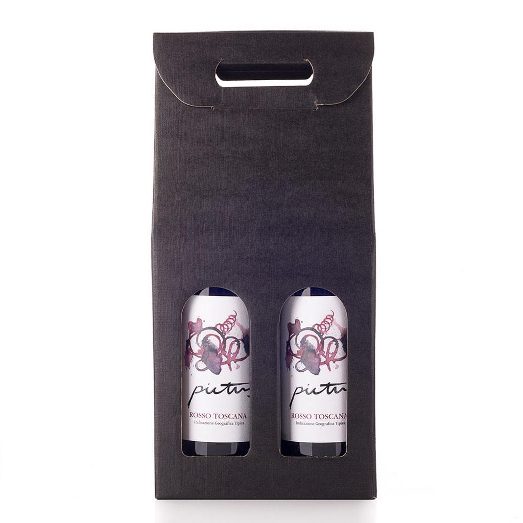 Vingave i gaveæske med 2 flasker Pictus Il Cellese IGT